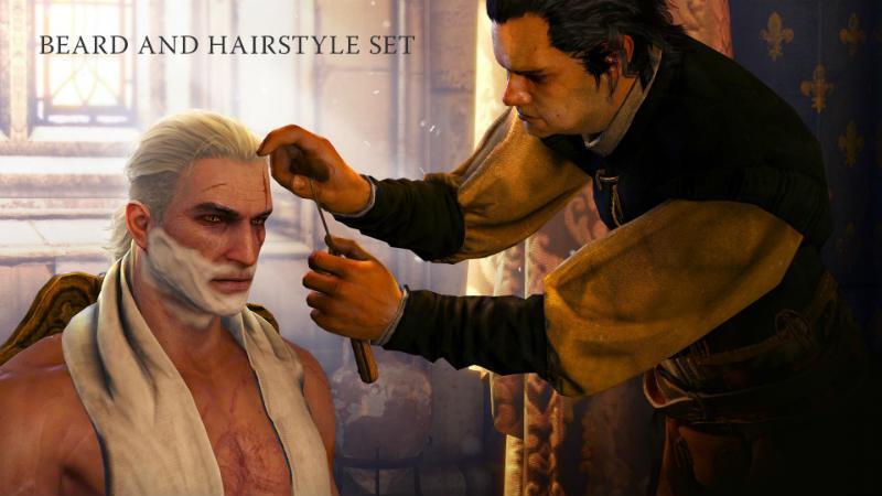 Ведьмак 3 набор стрижек и бороды