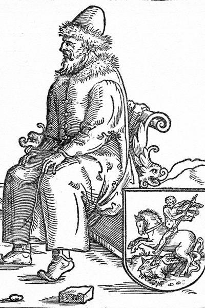 Портрет Василия III. Гравюра 1557 года / Фото: ПРЕДОСТАВЛЕНО М.ЗОЛОТАРЕВЫМ