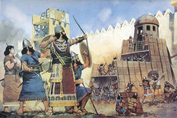 Осада города ассирийским царем Ашшурназирпалом II. IX век до н.э. / Фото: ПРЕДОСТАВЛЕНО М.ЗОЛОТАРЕВЫМ