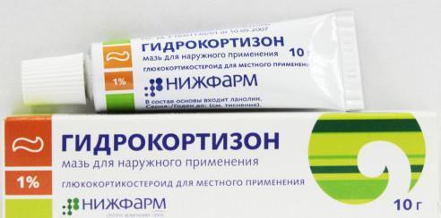 Мазь с гидрокортизоном для уходом за ногами после бритья