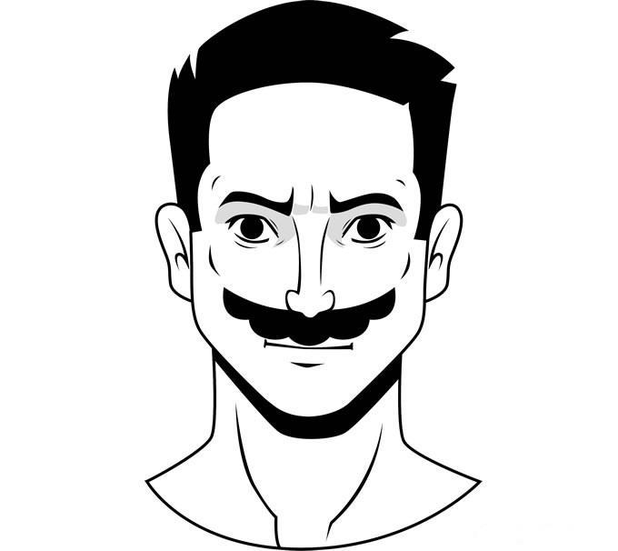 """Стиль бороды """"Супер Марио"""""""