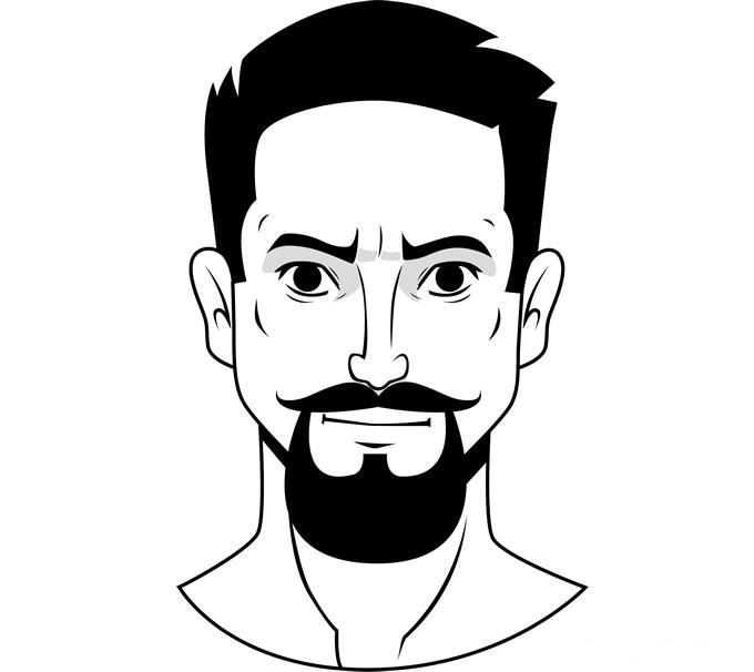 """Стиль бороды """"Велосипедный руль и козлиная бородка"""