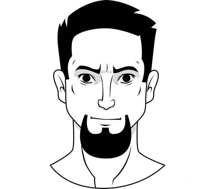 """Стиль бороды """"Козлиная бородка"""""""