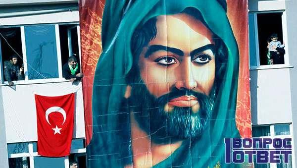 Пророк Мухаммад на плакате