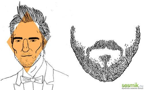 Ромбовидный тип головы и пример бороды