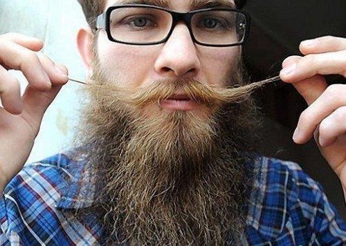 Густая борода при помощи Professional hair system