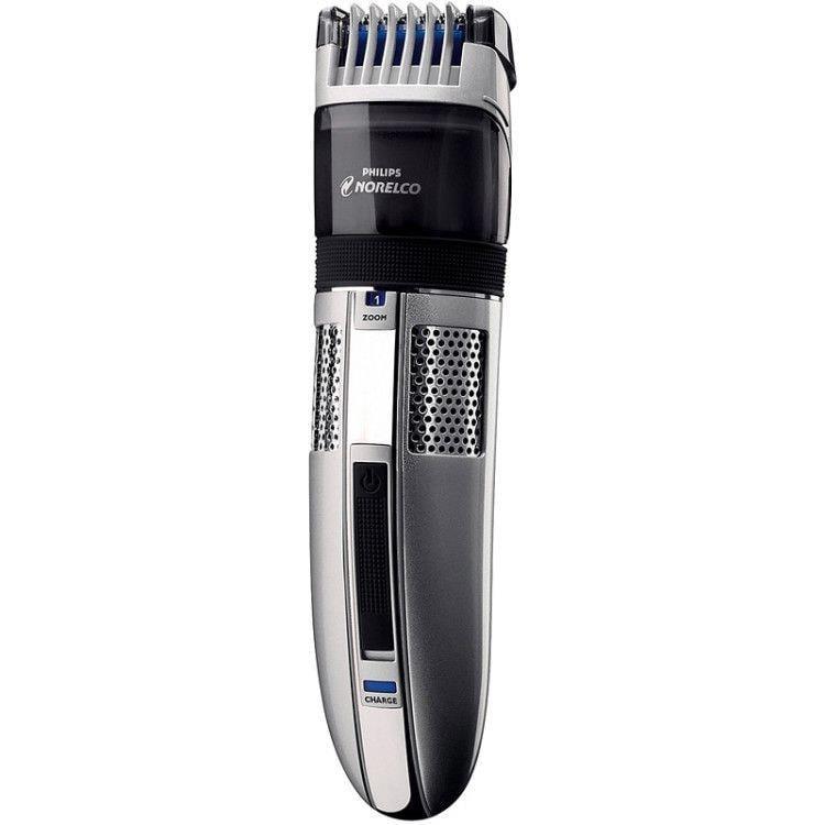 Триммер для бороды с вакуумной технологией от Philips всасывает сбритые волоски в специальный отсек, расположенный под лезвиями