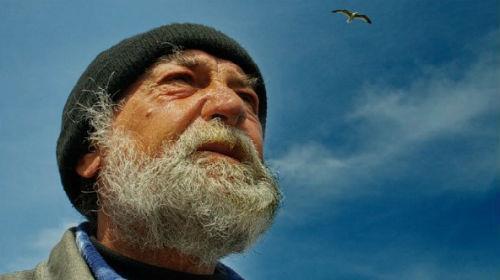 старик с бородой