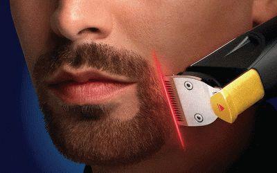 Обработка зоны усов и бороды
