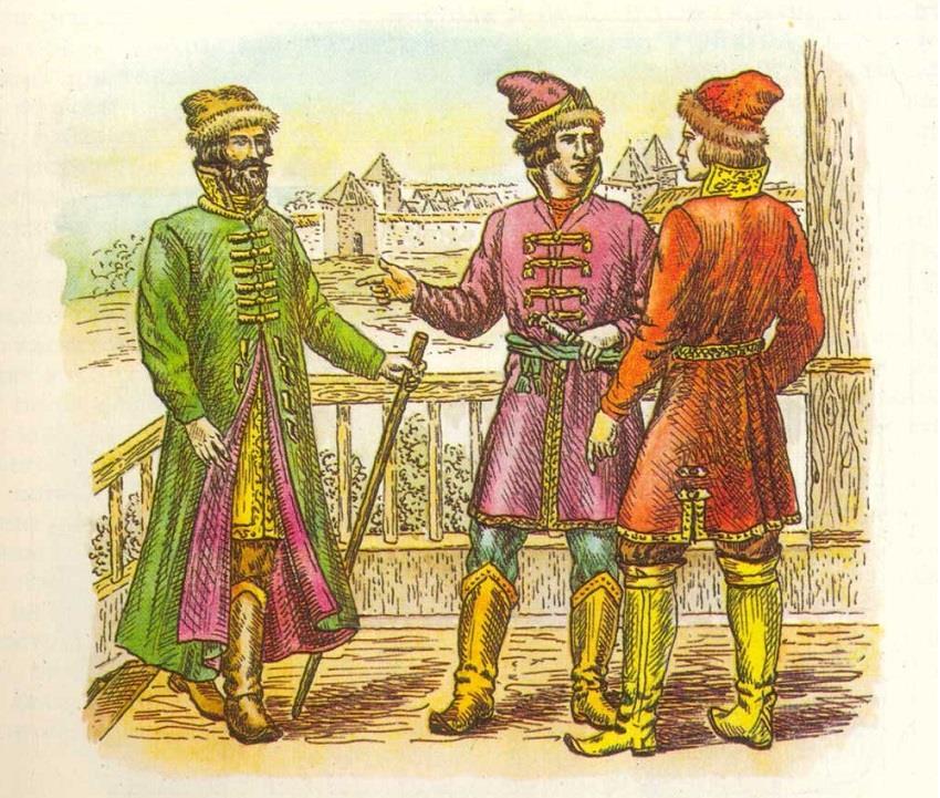 Одежда русских XVI-XVII вв. Кафтан, ферязь