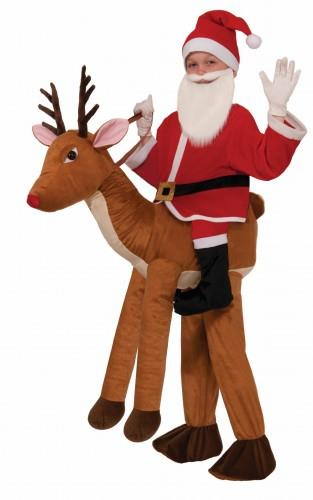 санта клауса на олене костюм новый год