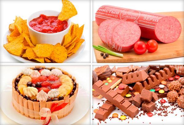 продукты, употребление которых надо ограничить