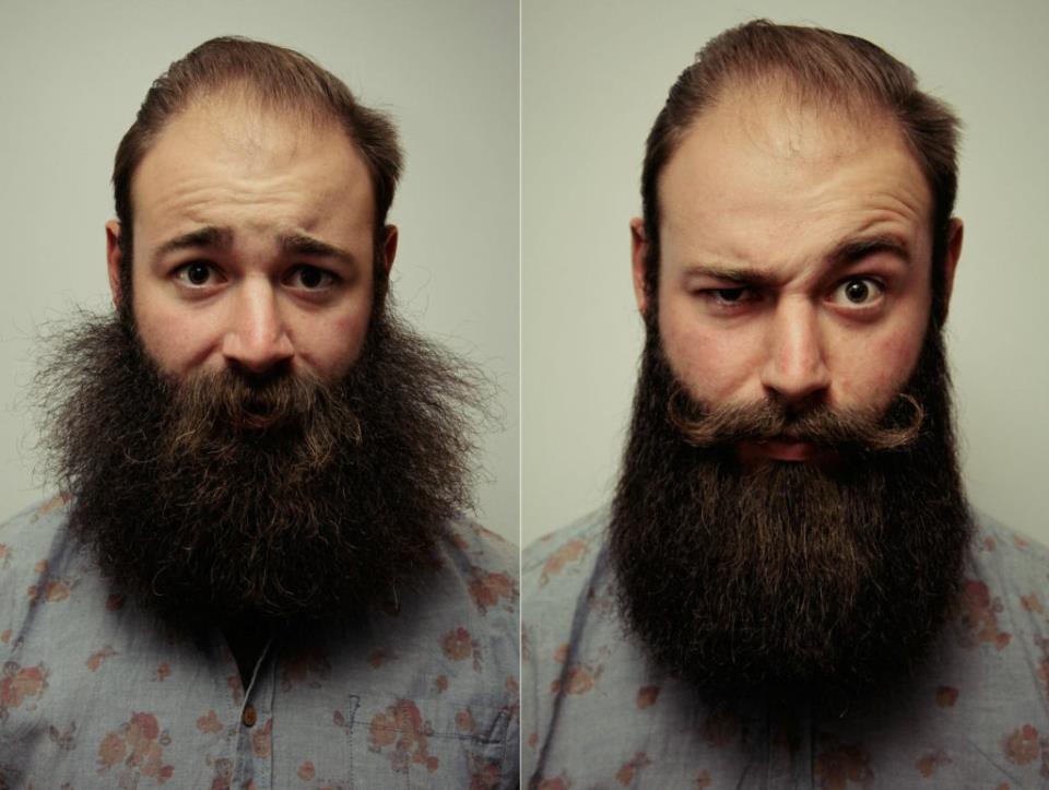 Пример использования масла для бороды