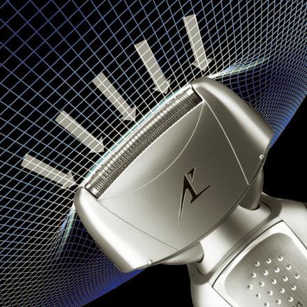 Новая бритва оснащена дугообразной сеткой, также впервые применённой вэлектробритвах такого типа