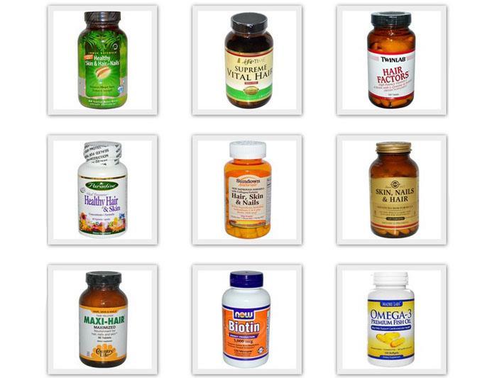 Витамины и препараты для волос