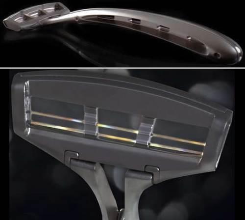 Сапфировые лезвия станка для бритья Zafirro Iridium обеспечивают удобство процедуры