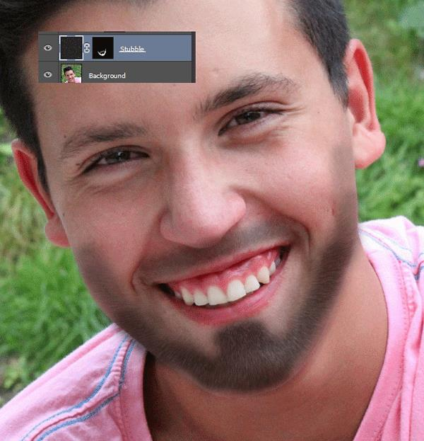 How to Add Stubble to a Face 7