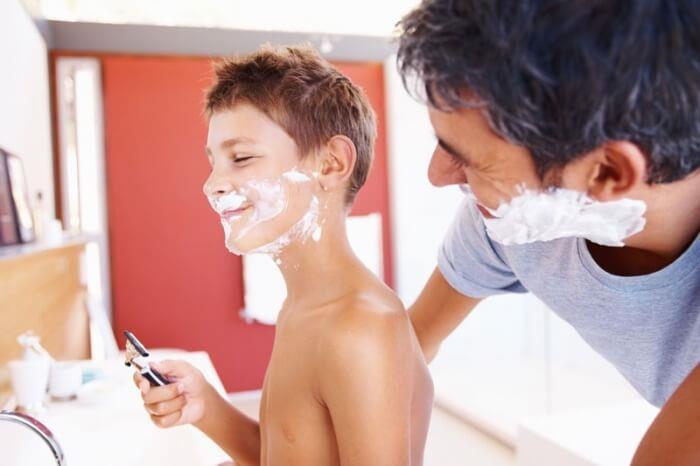 Как бриться подростку