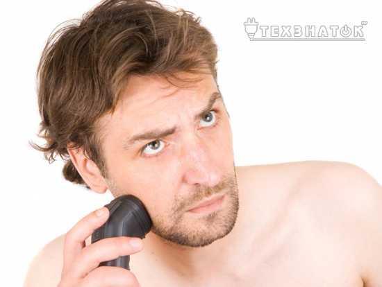 Сухое бритье электробритвой