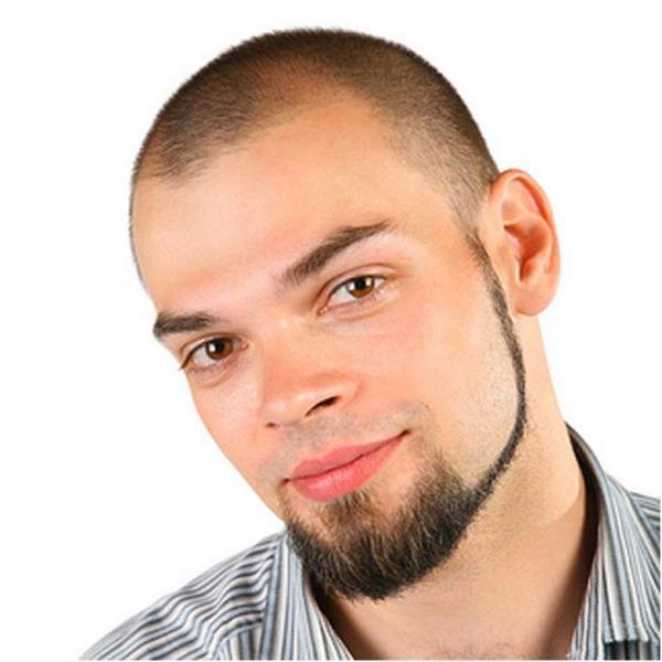 Вид бороды без усов