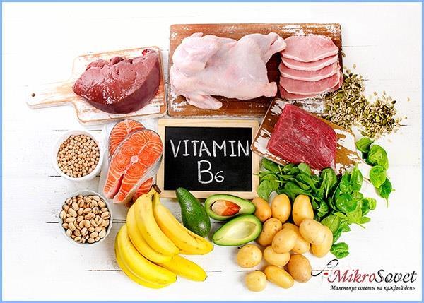 витамин В6 для волос с продуктами