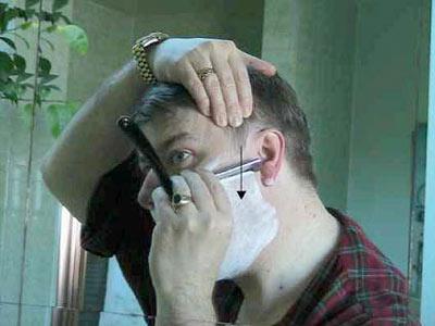 Приемы бритья опасной бритвой