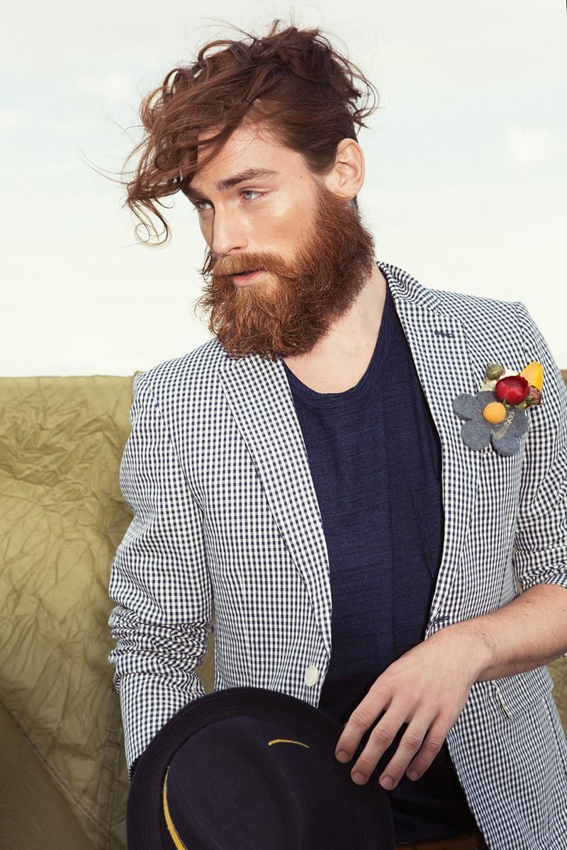 Стильный лук -ухоженая борода