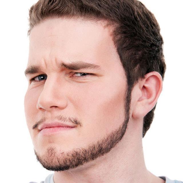 Модная мужская борода чинстрап