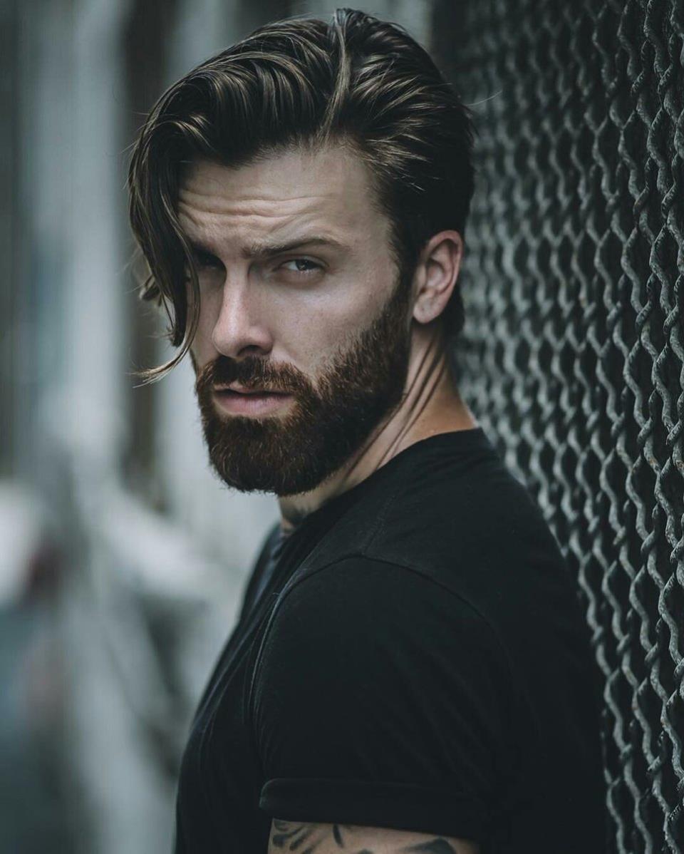 Стильный лук с бородой