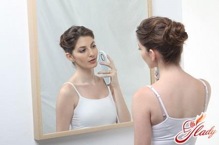 удаление волос с лица