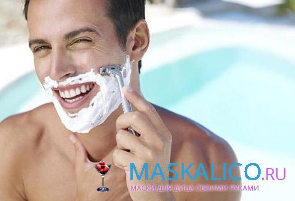 раздражение на лице после бритья