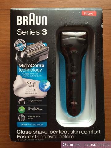 Электробритва Series 3 3045s Wet & Dry от Braun фото 1