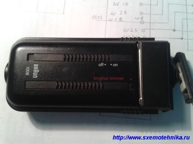 Внешний вид электробритвы braun-1008