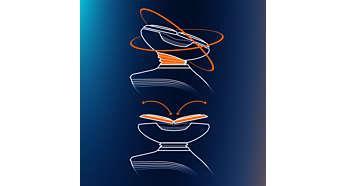 Система GyroFlex 2D легко повторят все контуры лица