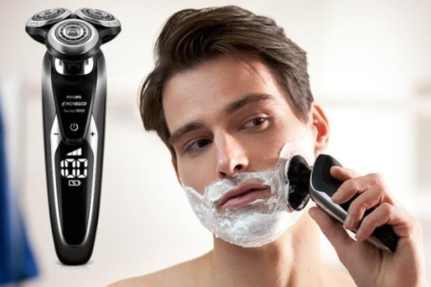 Электрическая бритва Philips Norelco shaver 9700 из линейки Series 9000 обеспечивает комфортное сухое и влажное бритье