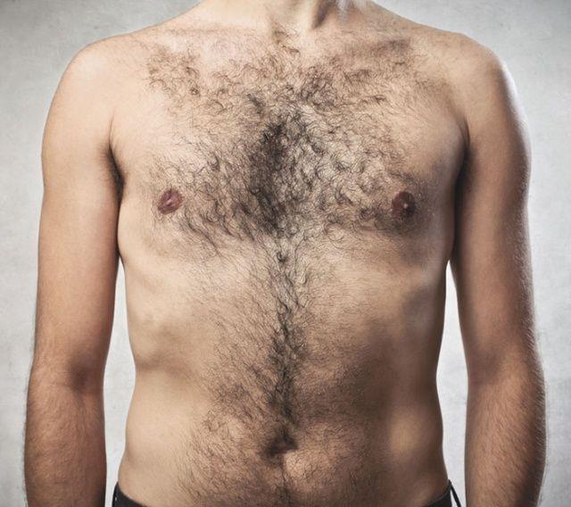 волосы на груди у мужчины