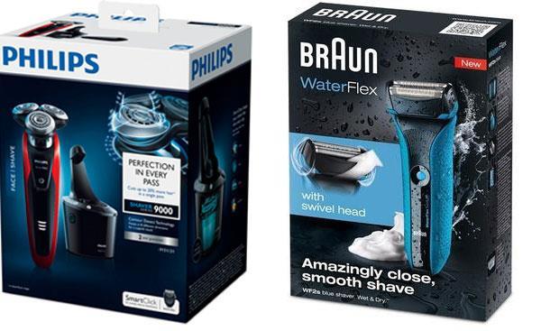 Упаковки тоже оказывают влияние на выбор электрических бритв