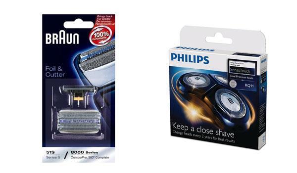 Запасной комплект ножей сетчатых и дисковых к электробритвам