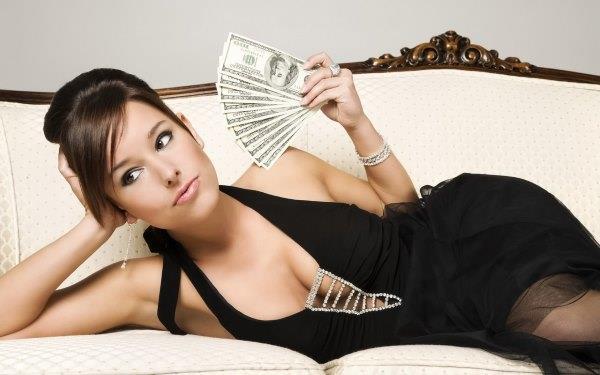 Богатая девушка.