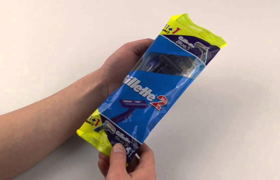 Фото: Одноразовые бритвы Gillette Blue