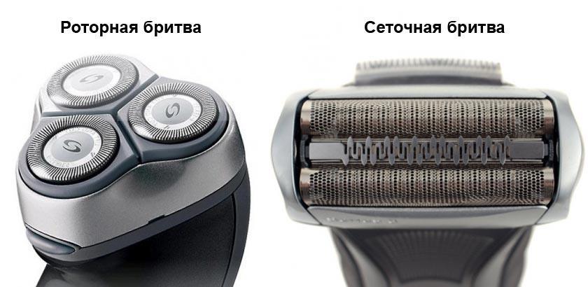 Роторная и сеточная бритвы